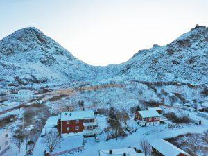 Utsikt mot fjell-Drone